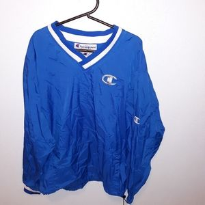 Vintage Champion Spell-Out Windbreaker Pullover